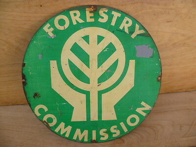 Vintage Old Tas Forestry Commission Tin, Metal Advertising Sign (C409)