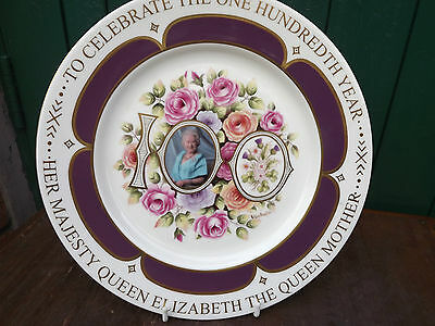 2000 Aynsley China Plate Queen Mother's 100th Handpainted & signed only 100 made