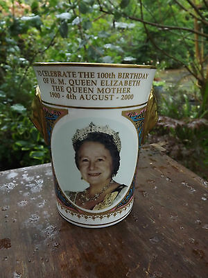 2000 Caverswall China Queen Mother's 100th  Lionhead Beaker only 500 made