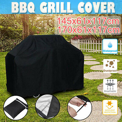 BBQ Cover 4 Burner Waterproof UV Gas Charcoal Barbecue Grill Protector Large AU