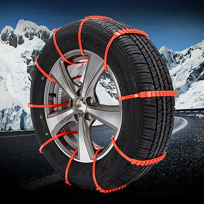 Arrival 10pc Car Truck Snow Anti-skid Wheel Tire Chains Universal Fit Tyre Width