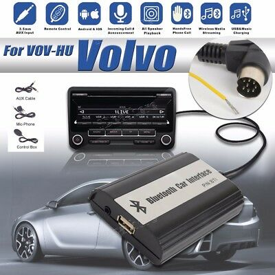 1set Auto Bluetooth Kits Hands-free Stereo AUX Adapter Interface for Volvo Hu