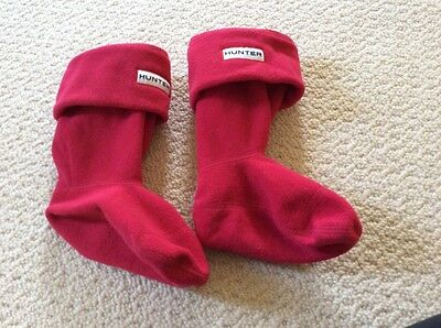 children's Hunter Wellies socks, red, size XXS, UK 7-9 infant