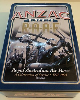 Unibic Limited Edition empty Anzac biscuit tin.Royal Australian Ar Force.