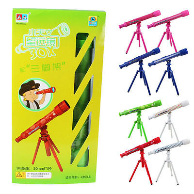 Kid Astrological Telescope With Tripod Science Educational Toy Gift Random Color
