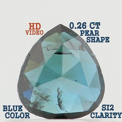 0.26 Cts Natural Loose Diamond Pear Shape Blue Color SI2 Clarity K1021  *