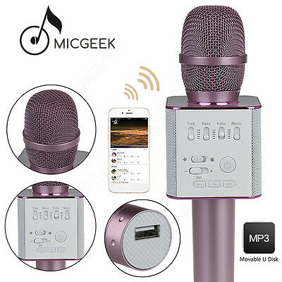 MicGeek Q9 Microphone Wireless Portable KTV USB Play W/ Mic Pink Home For Xiaomi