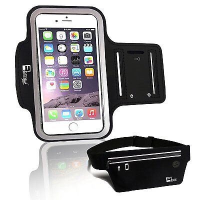 Premium Armband + Running Belt for iPhone 6s/6/5 Samsung Galaxy S7/S6/S5