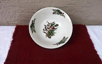 """Royal Gallery """"Garland"""" Christmas Dishes 9"""" Vegetable Bowl R.H. Macy"""
