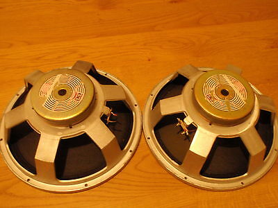 """pair of Solton Craaft 15"""" woofers 200 watts 8 ohms full working worldw.shipping"""
