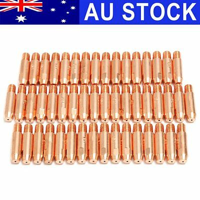 AU 50Pcs 0.9mm x 6mm Copper Contact Tip For MB24 MIG MAG Welding Welder Torch