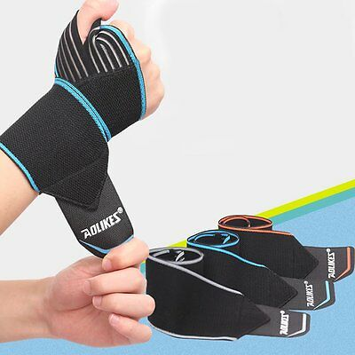 Wrist Guard Band Brace Support Carpal Tunnel Sprains Strain Gym Strap Magnetic