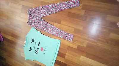 girls set of summer clothes from ZARA leggings and tshirt