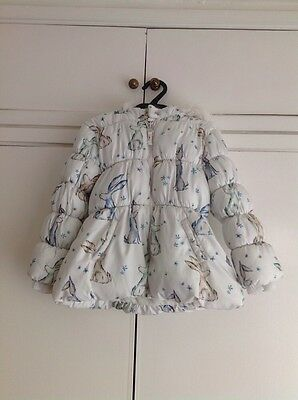 Next Girls Winter Padded Bunny Coat Age 3-4 Years