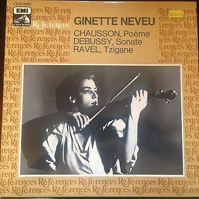 LP Ginette Neveu  Chausson/Debussy/Ravel  France EMI References NEAR MINT!