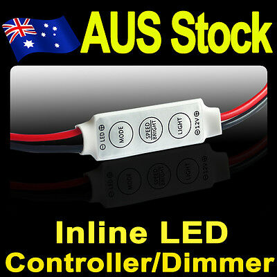 Mini In-Line LED Strip Light Dimmer Controller with On/Off Switch Caravan Camper