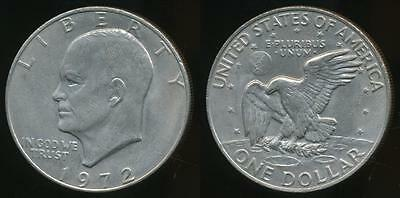 United States, 1972 One Dollar, $1, Eisenhower (Type 3) - almost Uncirculated