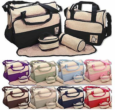 New Baby nappy changing bag set 5 PCS Brand New Cute diaper bags Seller in UK