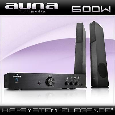 Audio Hifi Heimkino Home Cinema Sound System Verstärker Lautsprecher Boxen Set