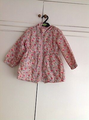 Girls Next Floral Lightweight Shower Proof Jacket Age 2-3 Years