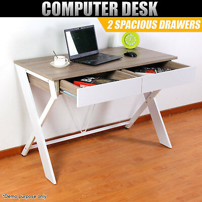 Computer Desk Office Laptop Storage Drawer Study Table Student Executive Cabinet