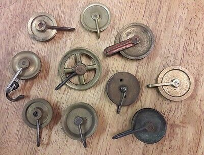 Assortment Of Grandfather/longcase Clock Pulleys-No Reserve!