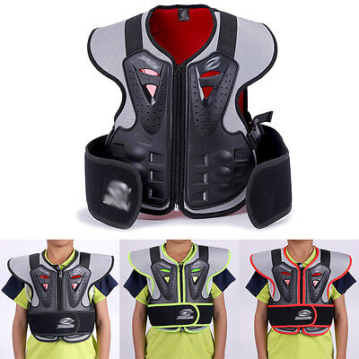 Bring Child Chest Shoulder Protection Kids Motorcycle Clothing Motocross C37LJ