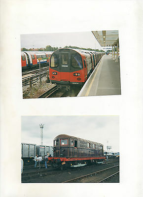 LONDON UNDERGROUND.2000.LT12 OLD OAK & 96082 STANMORE.2 10 x 15cm PHOTOGRAPHS