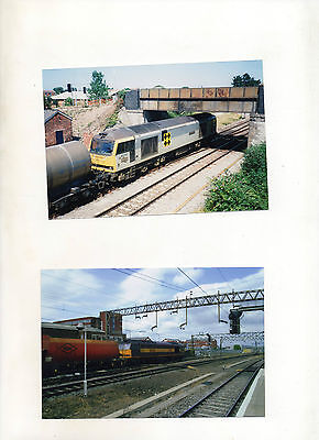 60092 AT HIGHBRIDGE 29/7/95 & 60042 AT RUGBY 14/6/05.2 10 x 15cms PHOTOGRAPHS