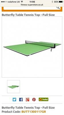 Table Tennis Table Top