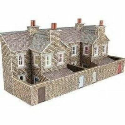 Metcalfe PN177 N Gauge Low Relief Terraced House Backs stone style Die Cut Card