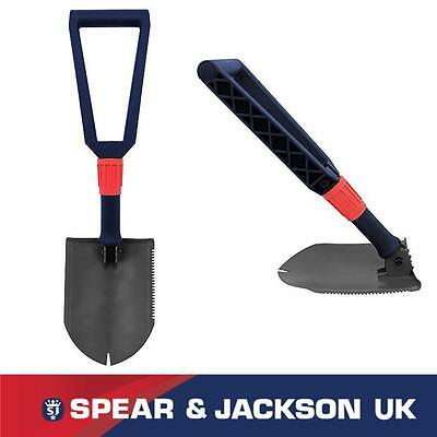 Spear And Jackson Folding Shovel Metal Detecting Camping Fishing Ia51