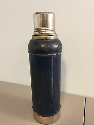 Vintage Antique Montgomery Ward Metal Thermos Unbreakable Vacuum Bottle