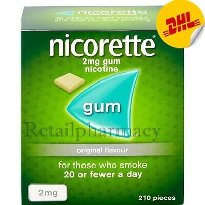3 Packs of Nicorette Original 2Mg Gum 210's—New Packing - Expiry - November 2021