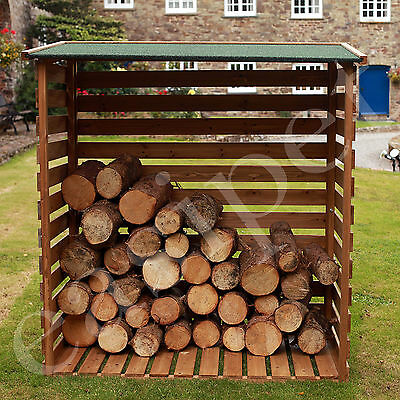 Wooden Log Store Wood Firewood Garden Storage Logs FED21467
