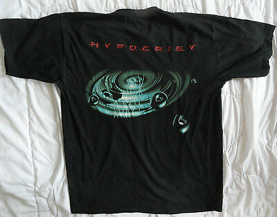 HYPOCRISY original 90s SHIRT Vintage # Entombed Carnage Unleashed Asphyx Death