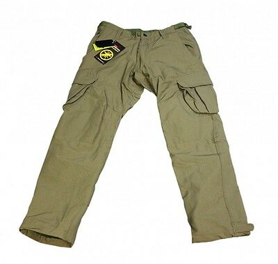 Korda NEW DARK OLIVE Polar Fleece Lined Thermal Kombat / Combat Trousers - XXXL
