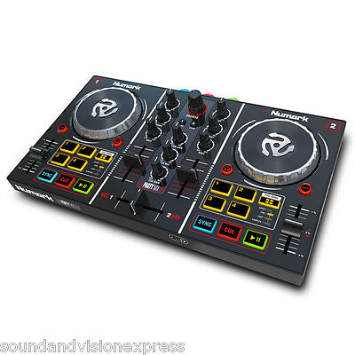 Numark Party Mix Controller + 2-Channel Mixer with LED Light Show + Virtual DJ