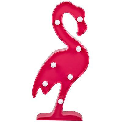 Flamingo Plastic LED Night Light Sign Home Party Decor