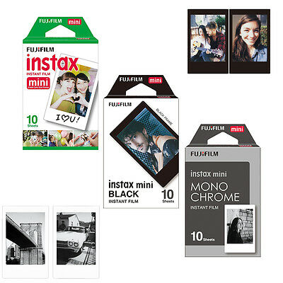 Fujifilm Instax Monochrome ,Black Frame ,White Edge Film 30 Photo- Fuji Mini 8 9