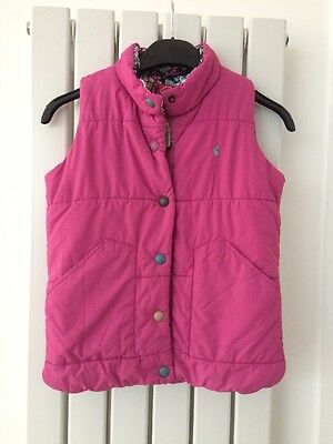 Girls Joules Gilet Age 9-10 Pink