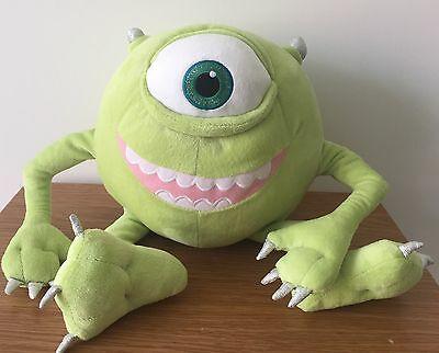"Mike Wazowski Monster University Inc Soft Toy 14"" Disney Store Exclusive Badge"