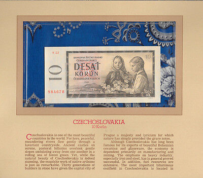 Most Treasured Banknotes Czechoslovakia 1960 10 Korun P 88b UNC serie S52