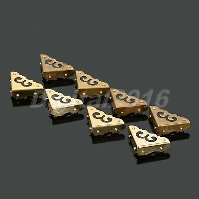 Chinese Style Drawer Trunk Side Plate Corners Brass Cabinet Furniture Hardware