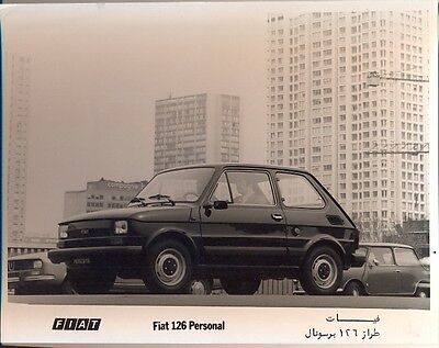 Fiat 126 Personal original official press photo inc Arabic text