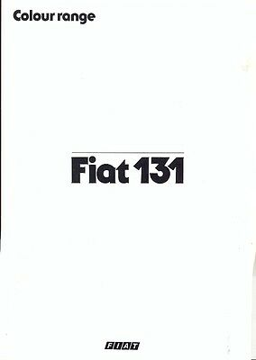Fiat 131 Mirafiori Supermirafiori Colour chart UK market 1981 brochure