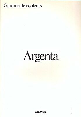 Fiat Argenta colour chart French market colour sales brochure 1981