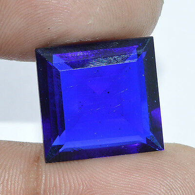 15 Cts. FACETED BLUE SAPPHIRE QUARTZ SQUARE SHAPE LOOSE BEAUTIFUL GEMSTONE