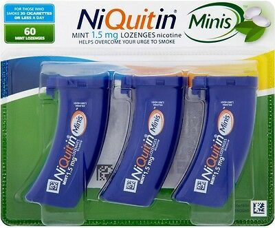 Niquitin Minis 1.5mg Mint Lozenges Pack Of 60 **SAME DAY DISPATCH** 02/2018 Exp