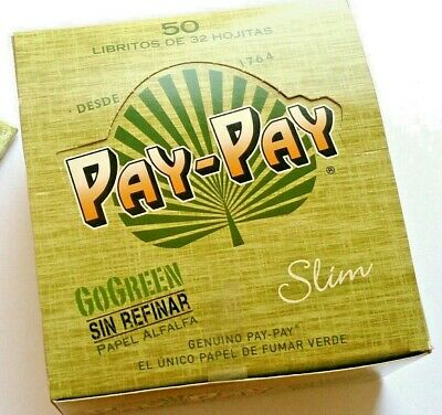 Pay Pay Go Green King Size Slim Natural Rolling Papers - Multi Buy Deals